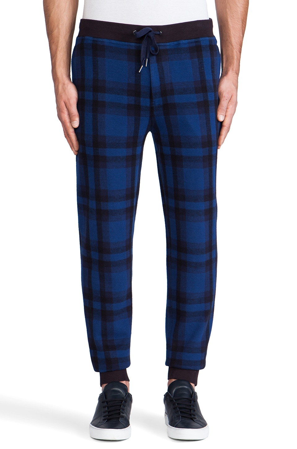 Marc by Marc Jacobs Sheffield Plaid Sweatpant in Icelandic Blue Multi
