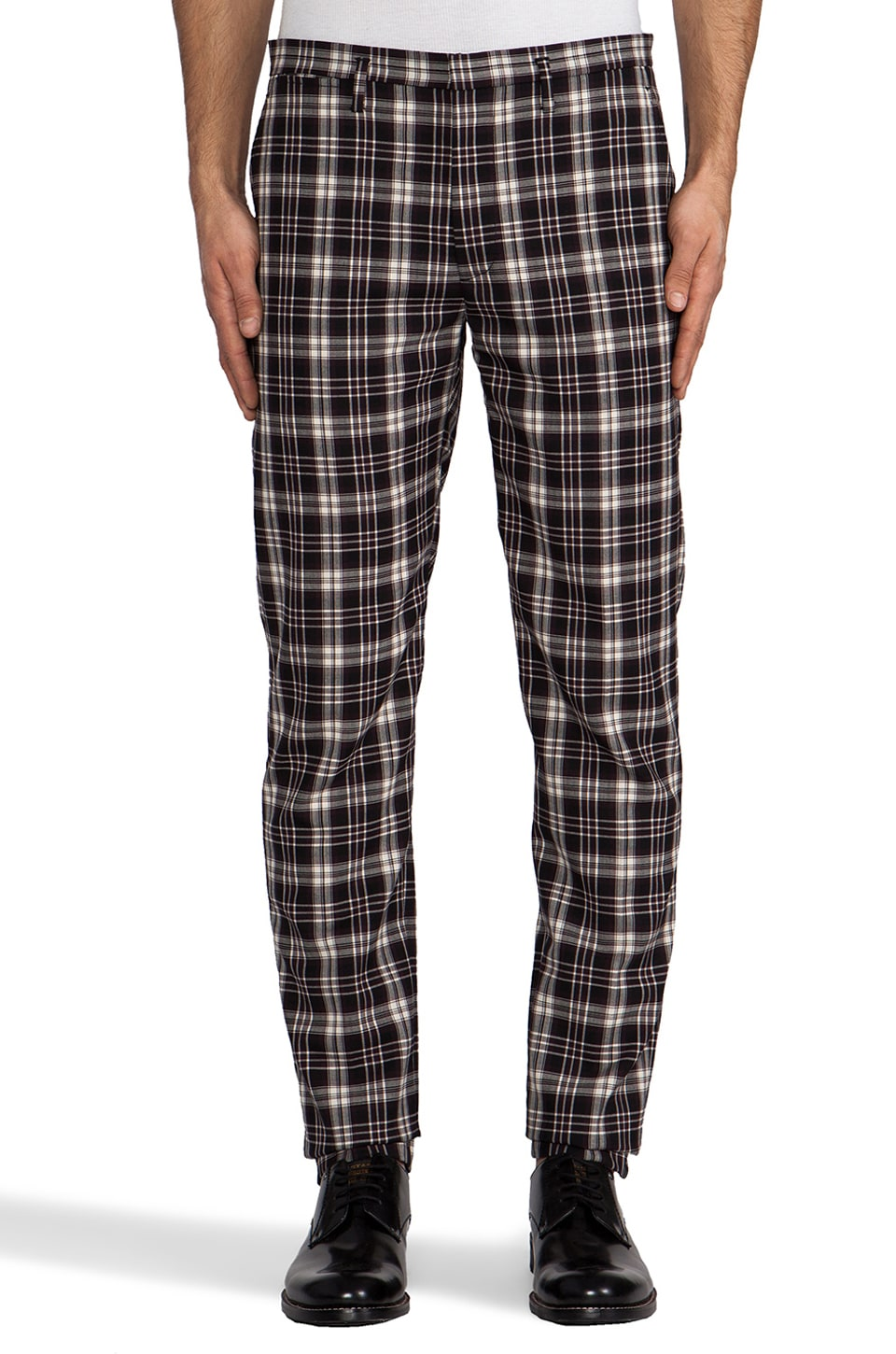 Marc by Marc Jacobs Bromley Plaid Trouser in Washed Ink Multi