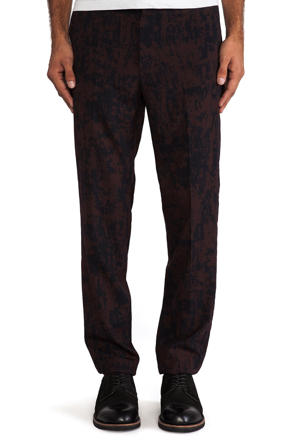 Marc by Marc Jacobs Sonny Suiting Pant in Deep Beet Multi