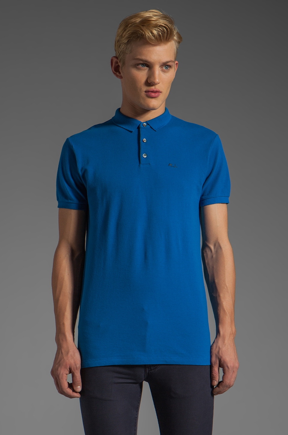 Marc by Marc Jacobs Logo Polo in Fresh Blue