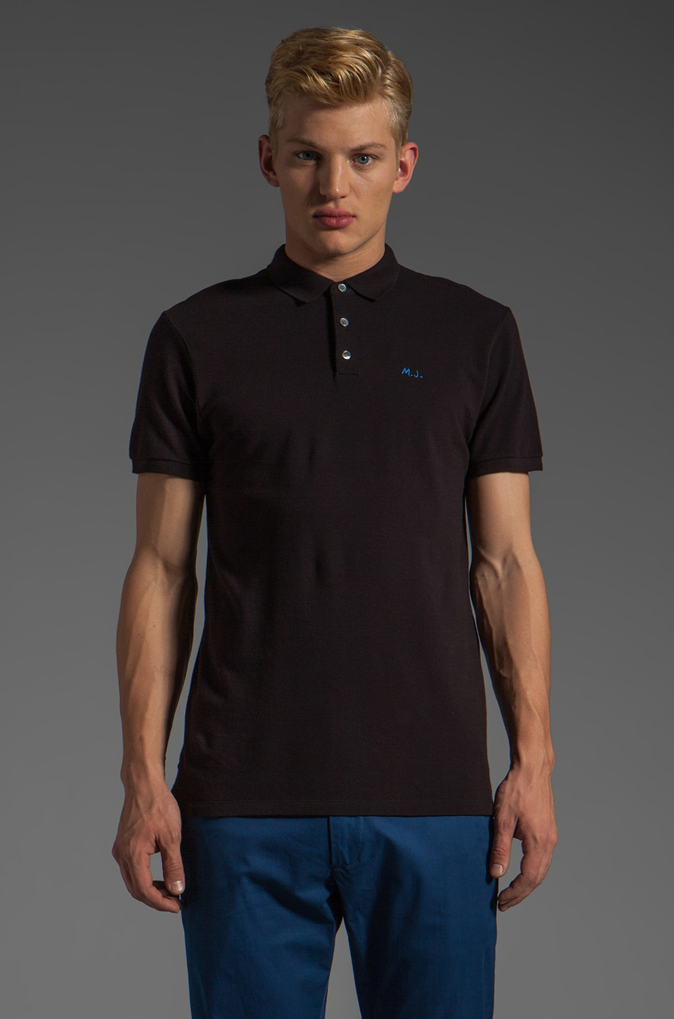 Marc by Marc Jacobs Logo Polo in Black