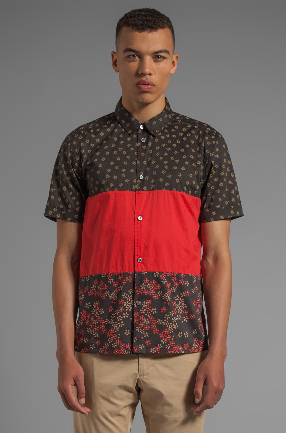 Marc by Marc Jacobs Ace Floral Shirting in Washed Ink Multi