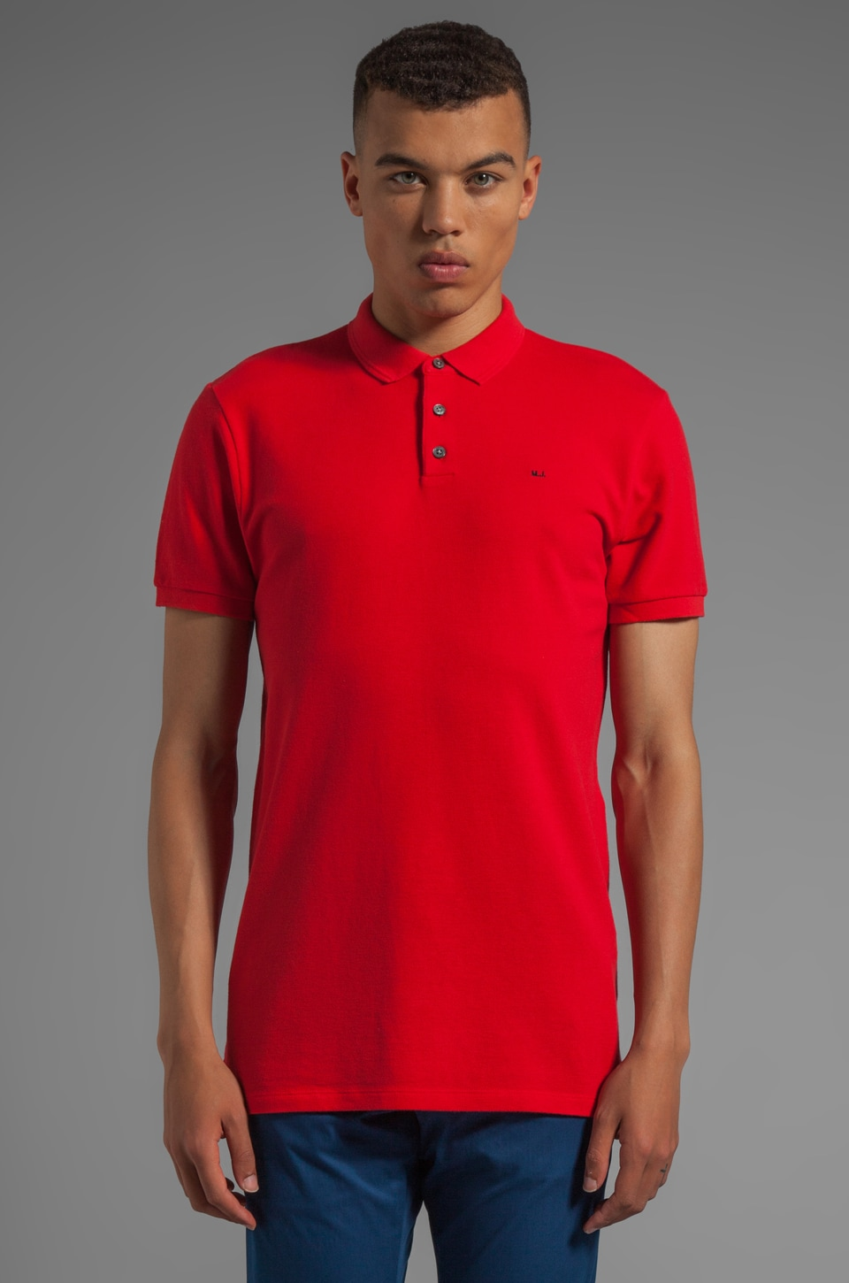 Marc by Marc Jacobs Logo Polo in Scarlet