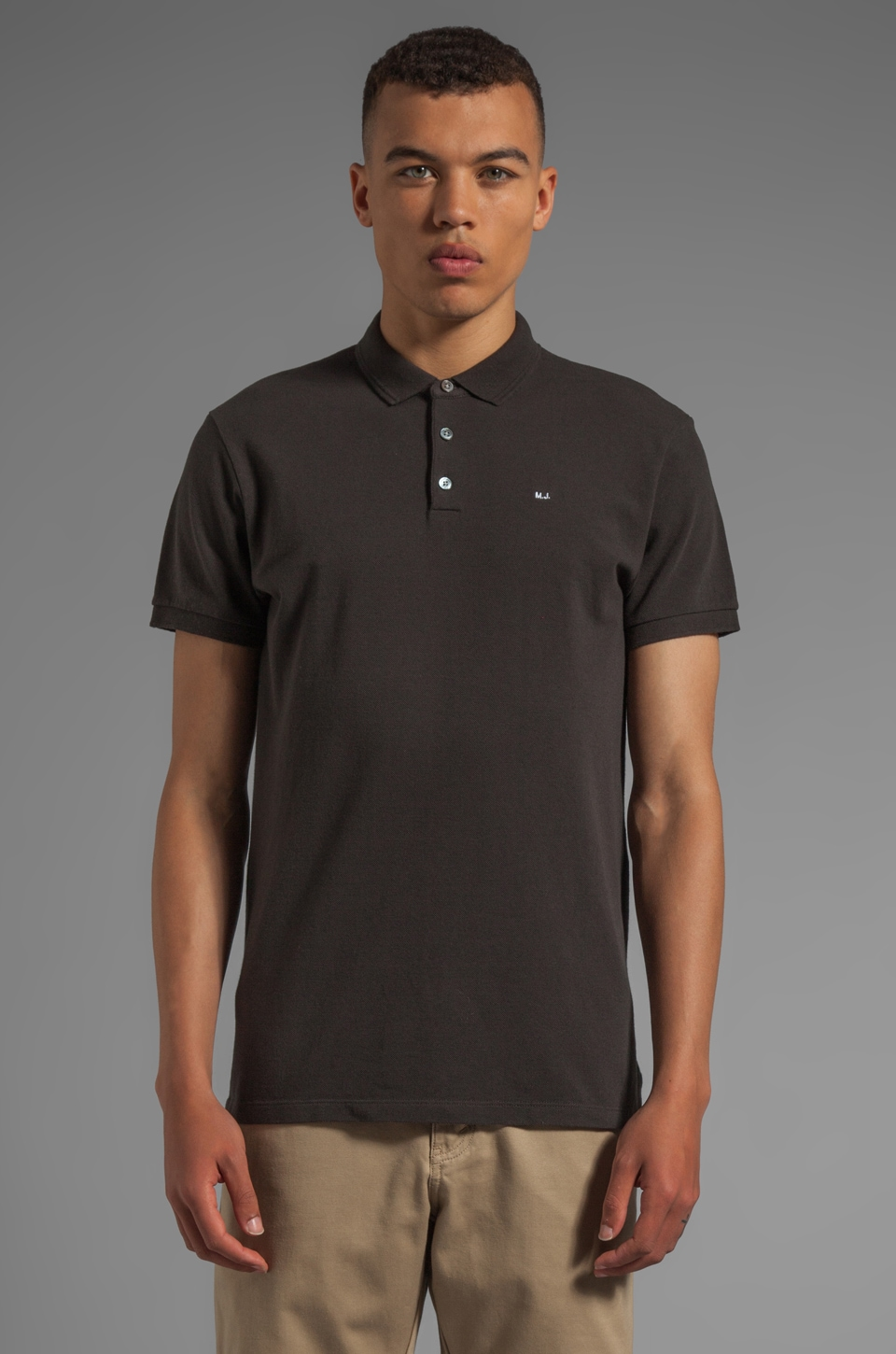 Marc by Marc Jacobs Logo Polo in Pirate Black