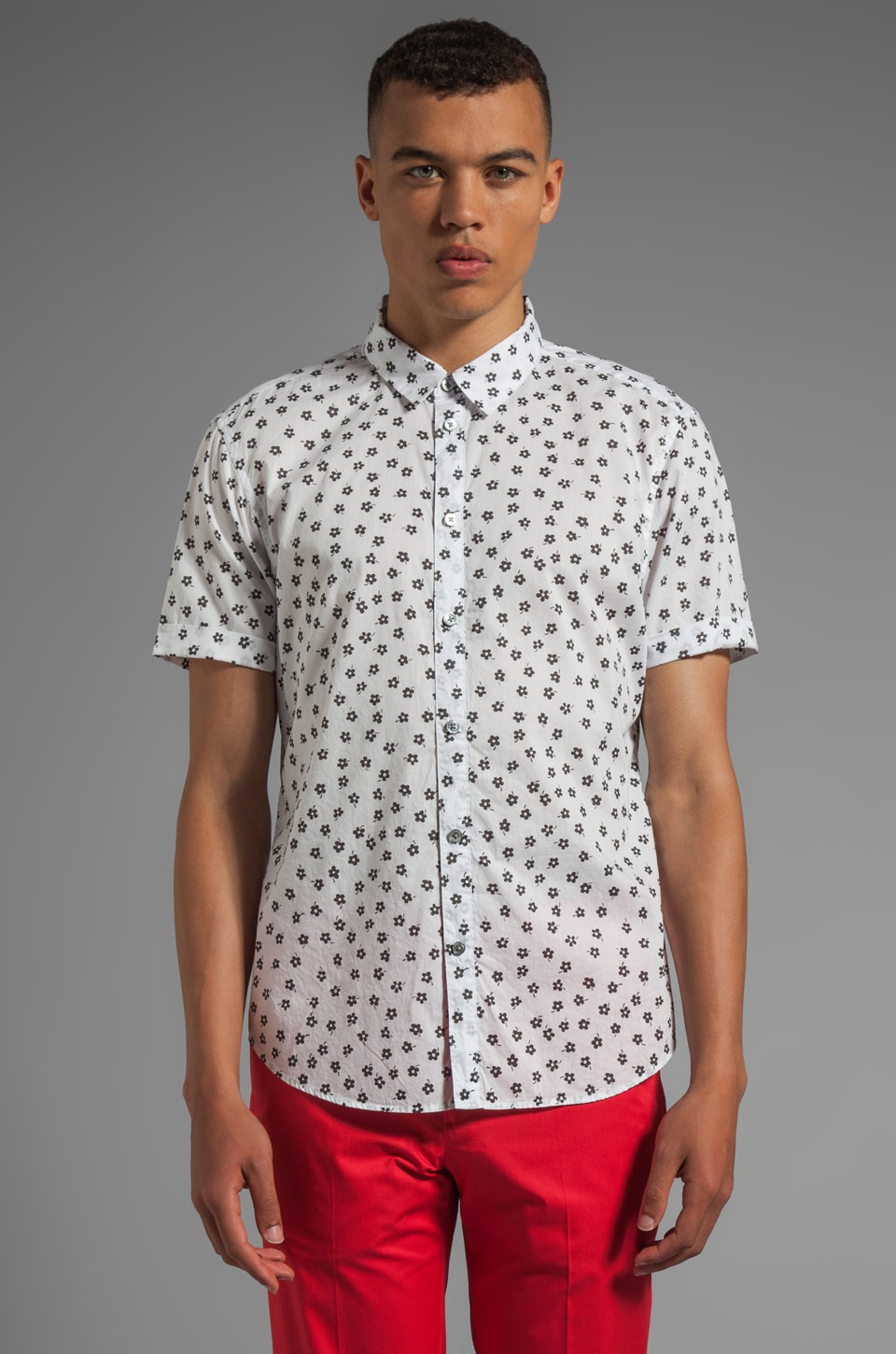 Marc by Marc Jacobs Anderson Floral Shirting in Wicken White Multi