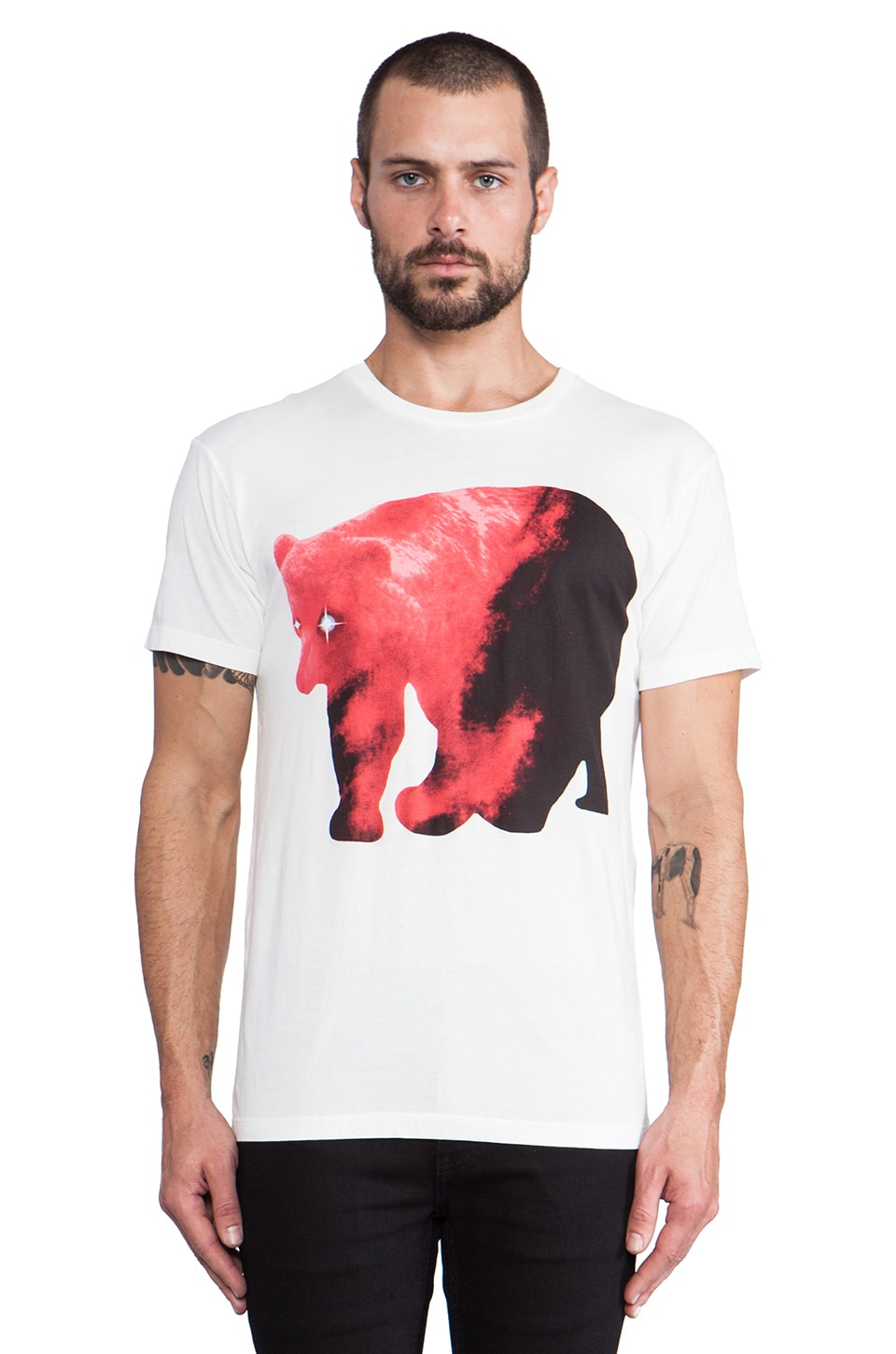 Marc by Marc Jacobs Bear Tee in True White Multi