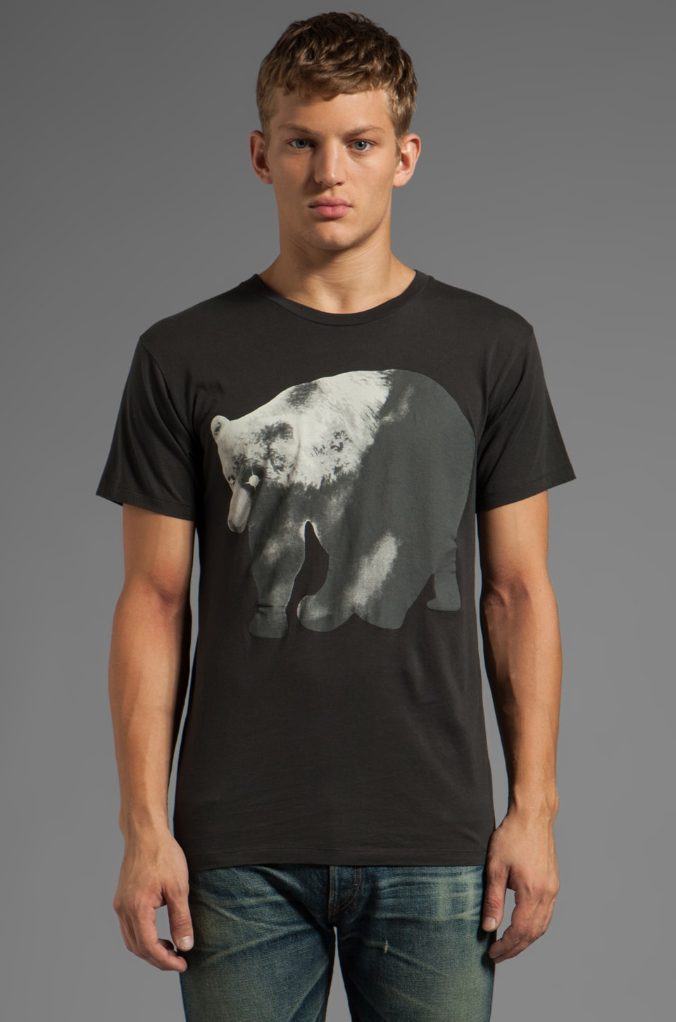 Marc by Marc Jacobs Bear Tee in Pirate Black Multi