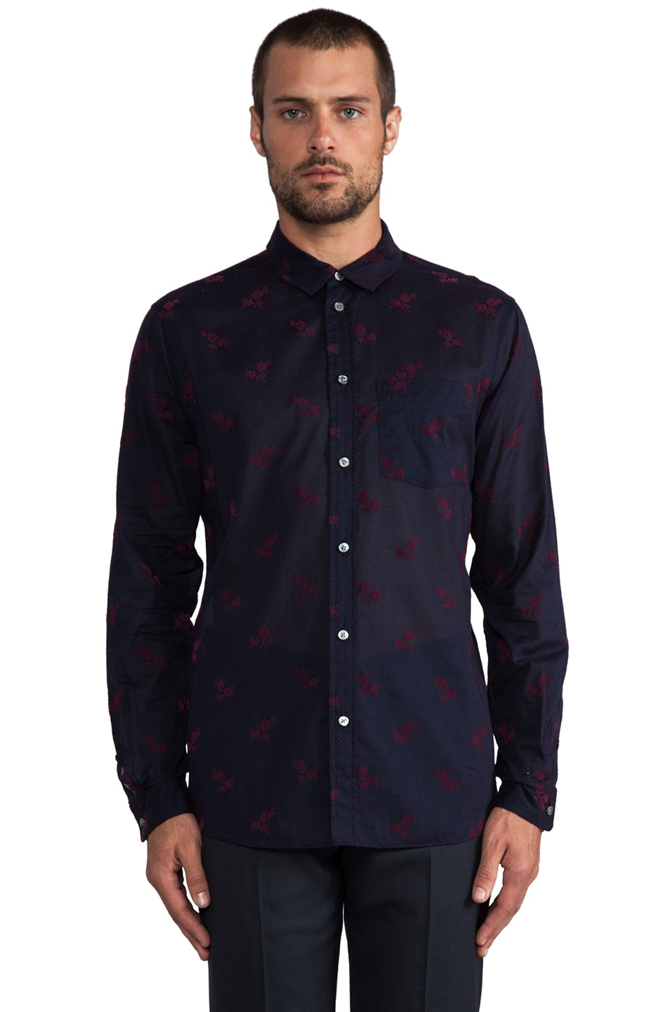 Marc by Marc Jacobs Savannah Print Button Down in Total Eclipse Multi