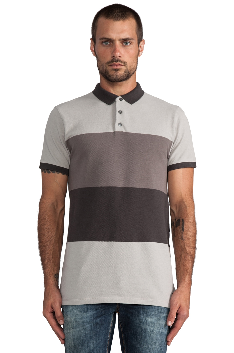 Marc by Marc Jacobs Newport Polo in Opal Grey Multi