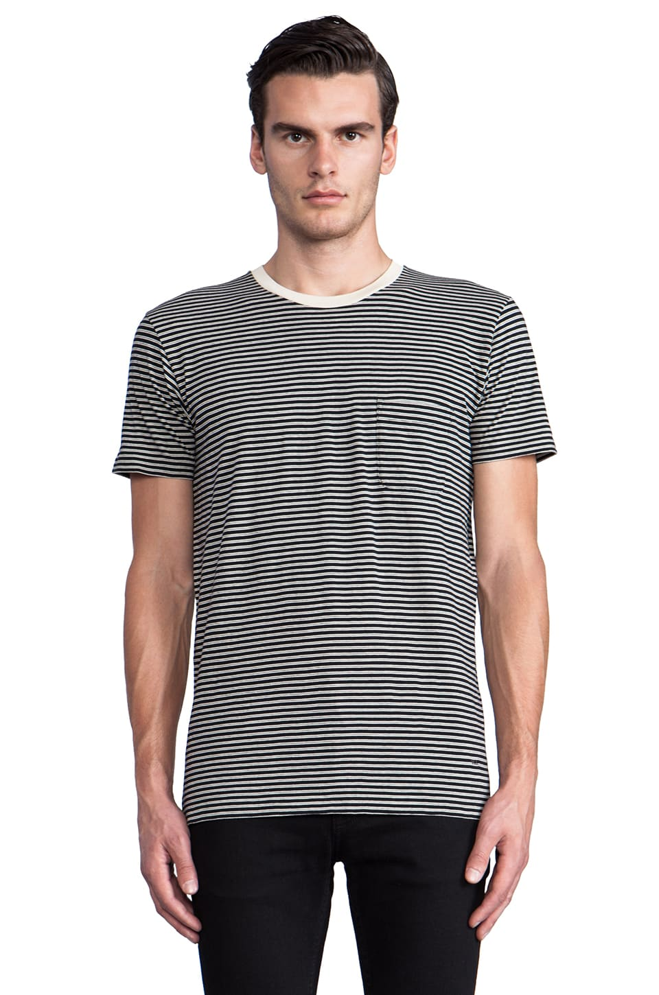 Marc by Marc Jacobs Liverpool Stripe Tee in Moonless Night