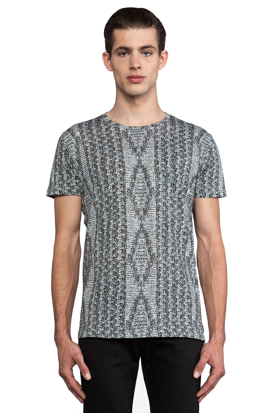 Marc by Marc Jacobs Sweater Print Tee in Greyscale Multi