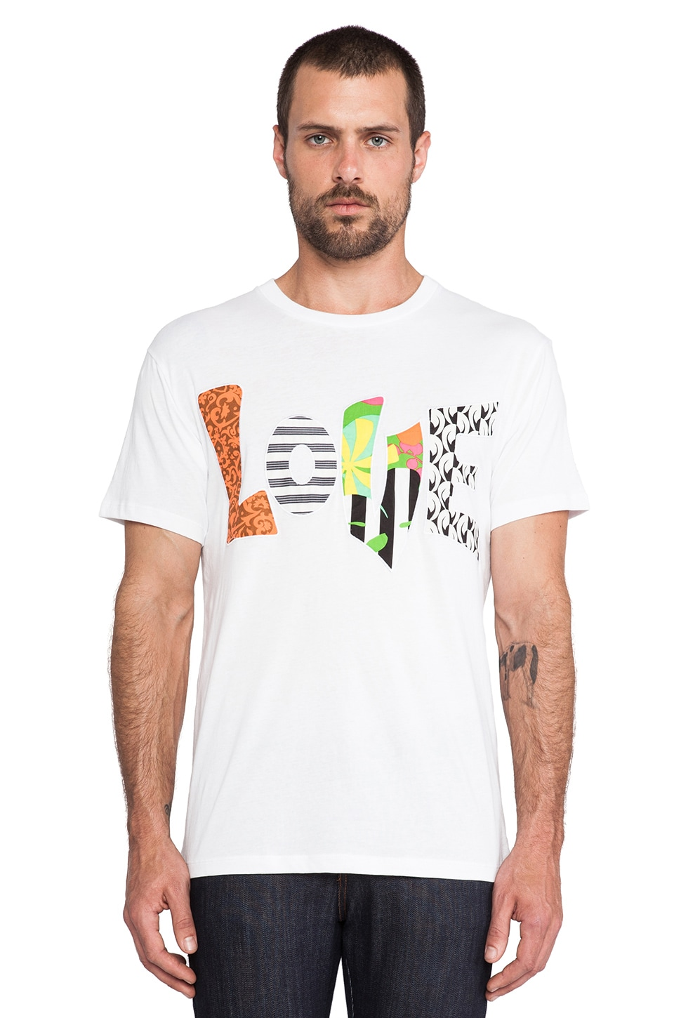 Marc by Marc Jacobs Love Tee in Wicken White Multi