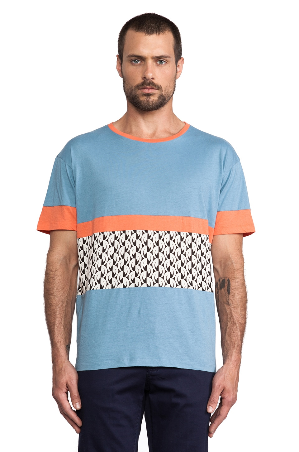 Marc by Marc Jacobs Redondo Tee in Ore Blue Multi