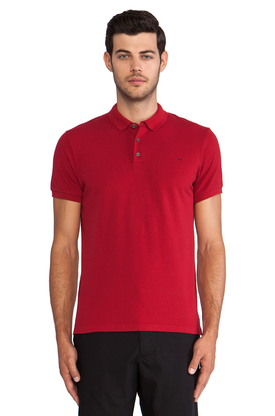 Marc by Marc Jacobs Logo Polo in Deep Red