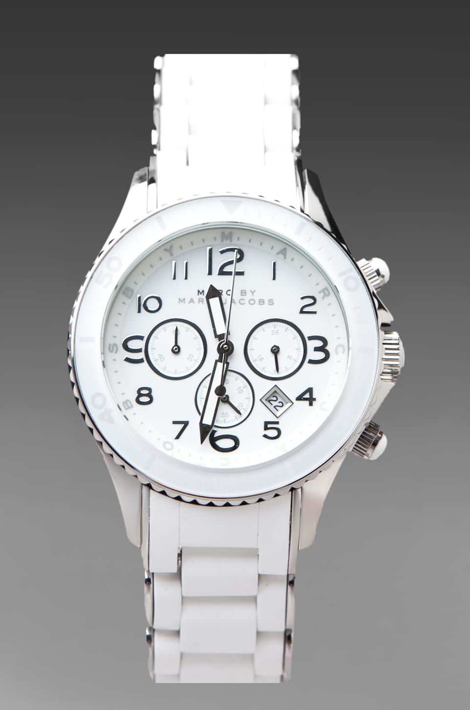 Marc by Marc Jacobs Rock Silicone Watch in Silver
