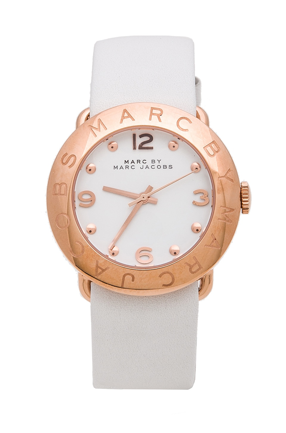 Marc by Marc Jacobs Amy Watch in White/Rosegold