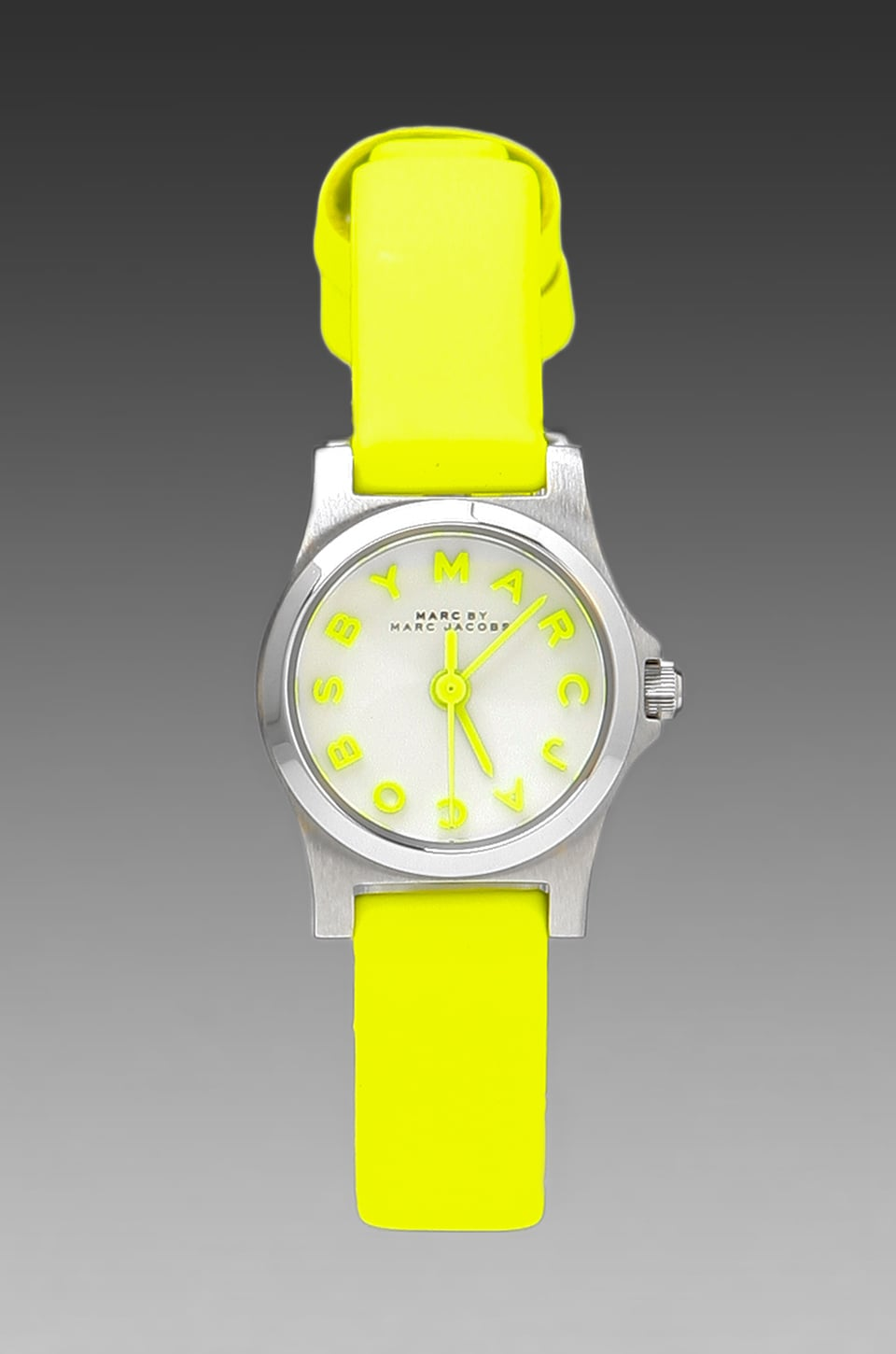 Marc by Marc Jacobs Henry Dinky Watch in Safety Yellow/Silver