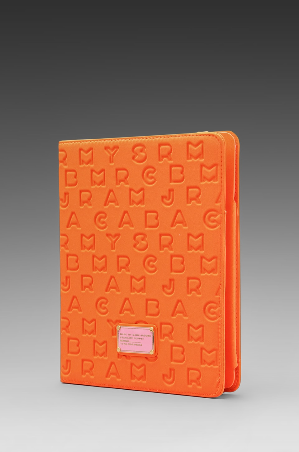 Marc by Marc Jacobs Dreamy Logo Neoprene Tablet Book in Shocking Orange