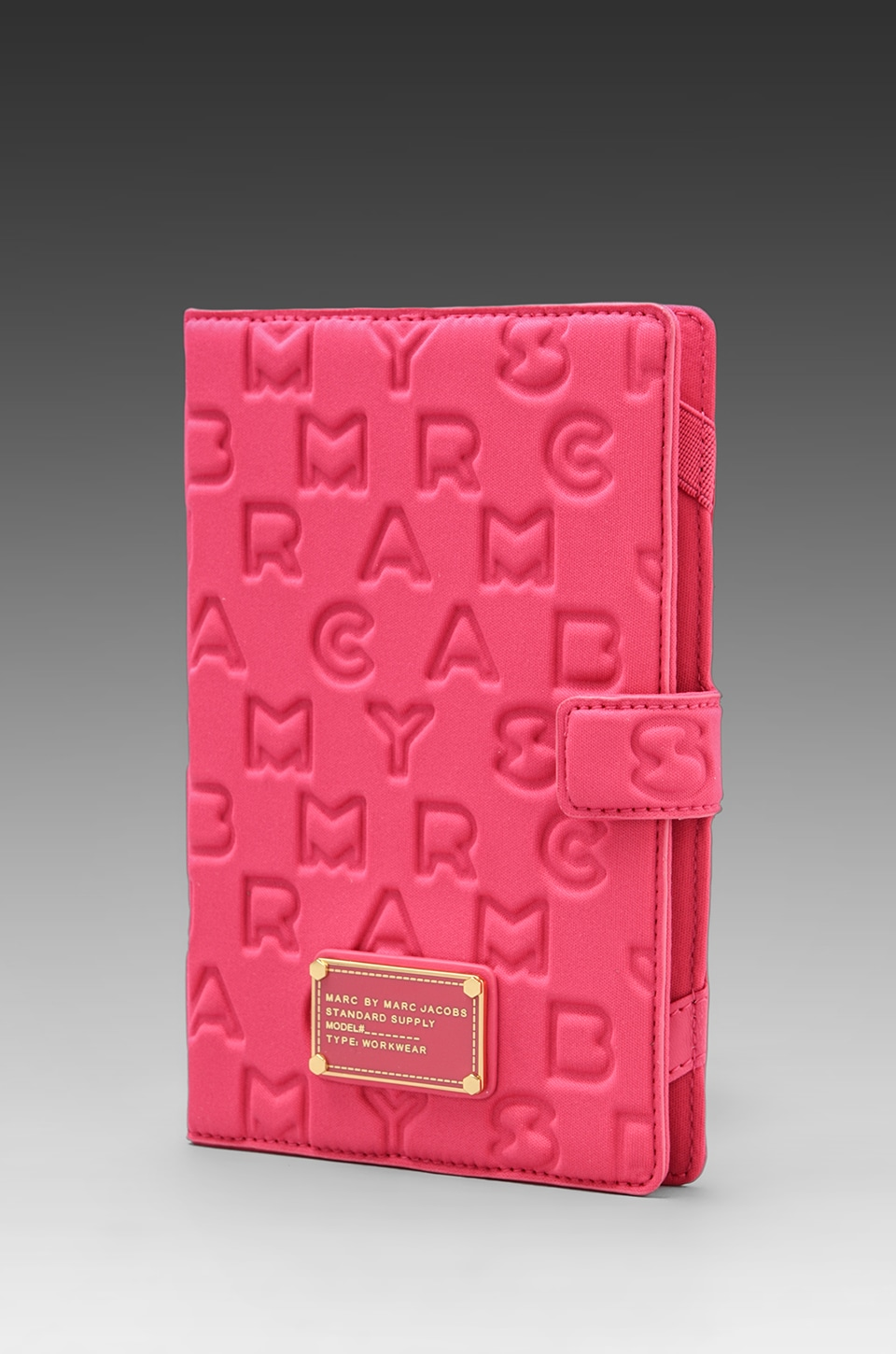 Marc by Marc Jacobs Dreamy Logo Neoprene eReader Book in Peony