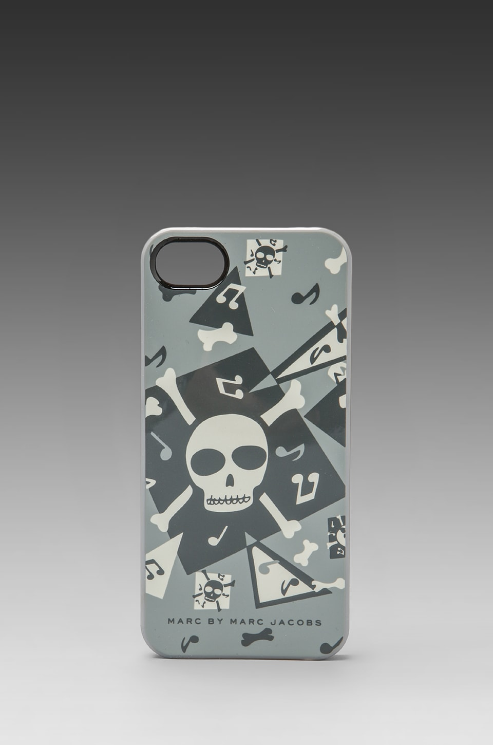 Marc by Marc Jacobs Bones Phone Case in Gunmetal Multi