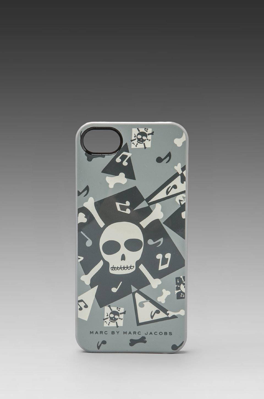 Marc by Marc Jacobs Bones Phone Case in Gunmetal Multi