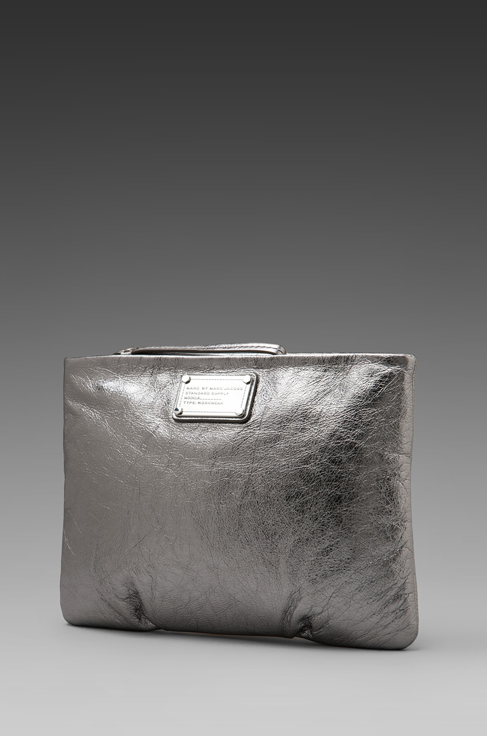 Marc by Marc Jacobs Classic Q Tablet Wristlet in Shiny Gunmetal