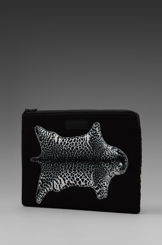 Marc by Marc Jacobs No. 1 Neoprene Jaguar Rug 13' Zip Case in Elephant Grey Multi
