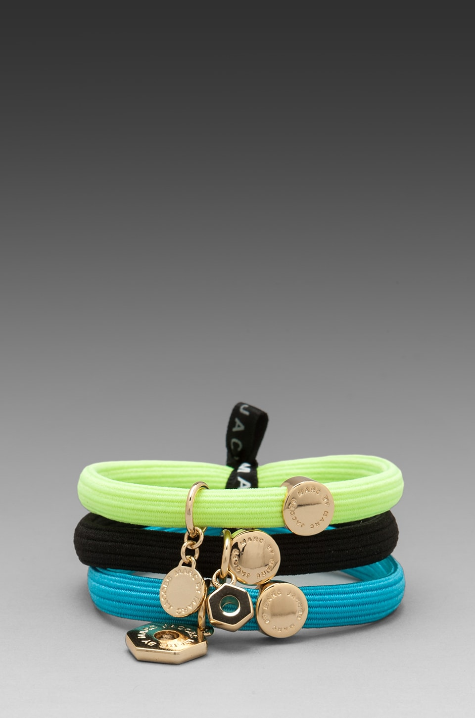 Marc by Marc Jacobs Cluster Ponys Bolts Hairbands in Oro