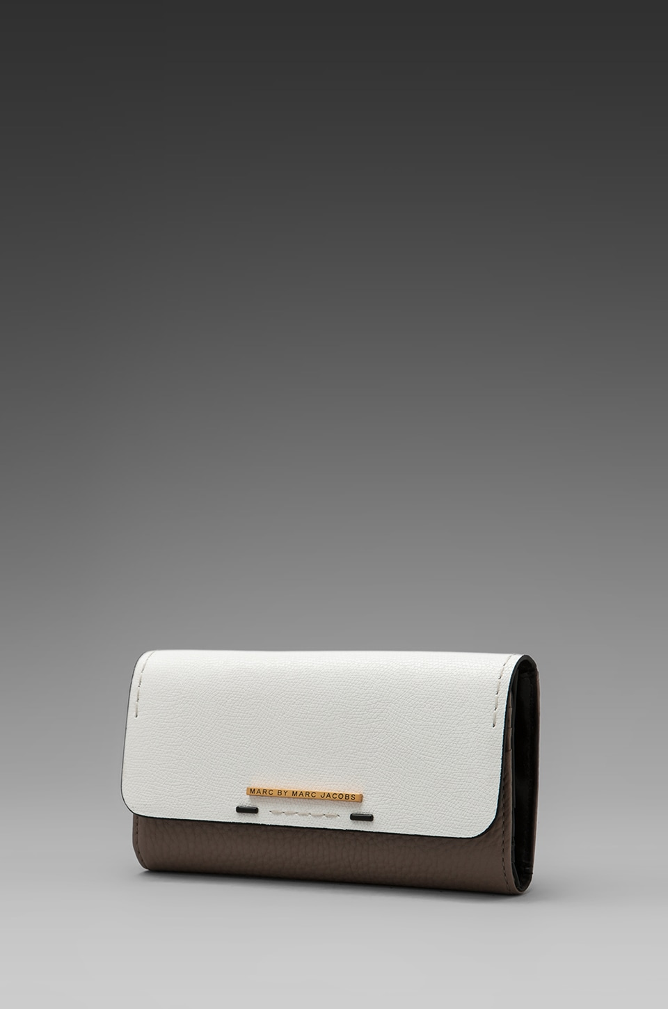 Marc by Marc Jacobs Sheltered Island Colorblocked New Long Trifold Wallet in Star White Multi