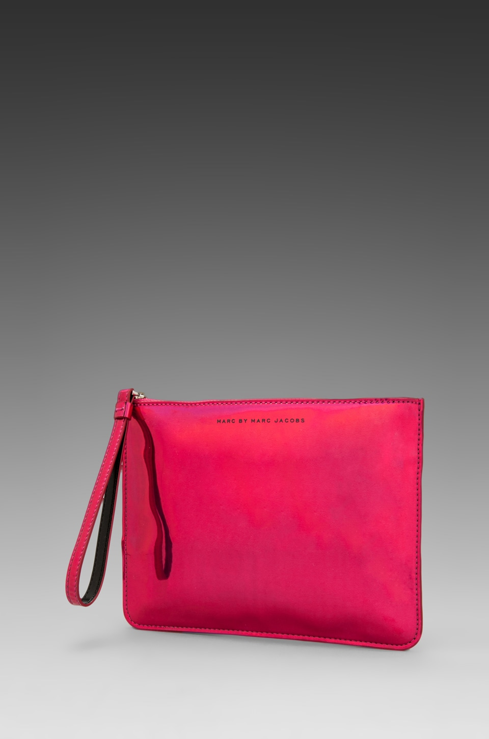 Marc by Marc Jacobs Techno Wristlet Zip Pouch in Rose Holographic