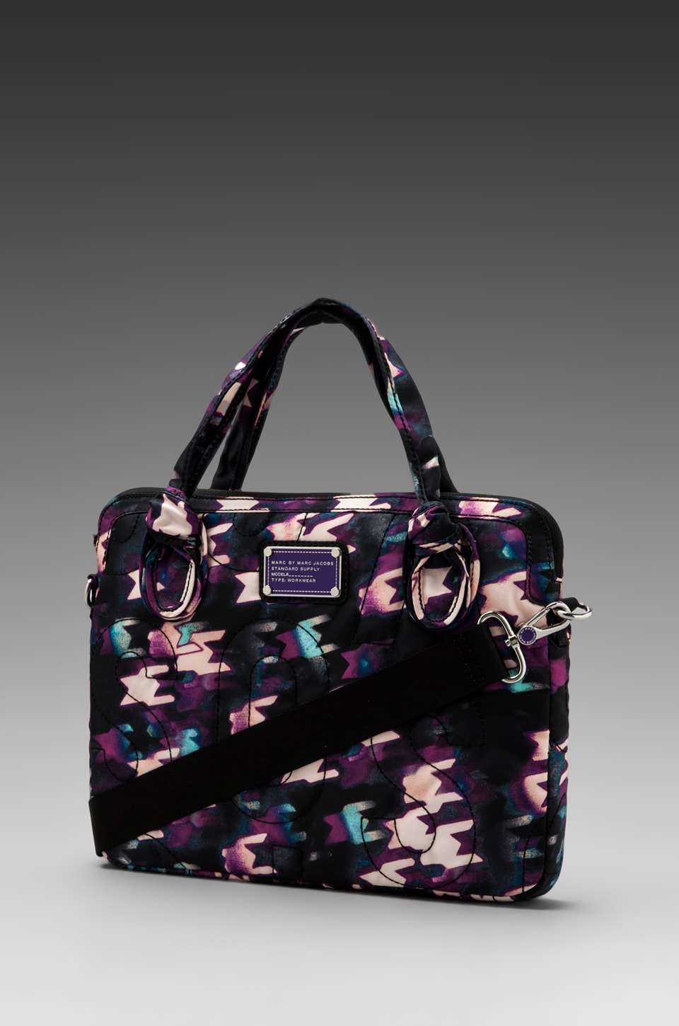 Marc by Marc Jacobs Pretty Nylon Printed 13' Computer Commuter in Black Multi