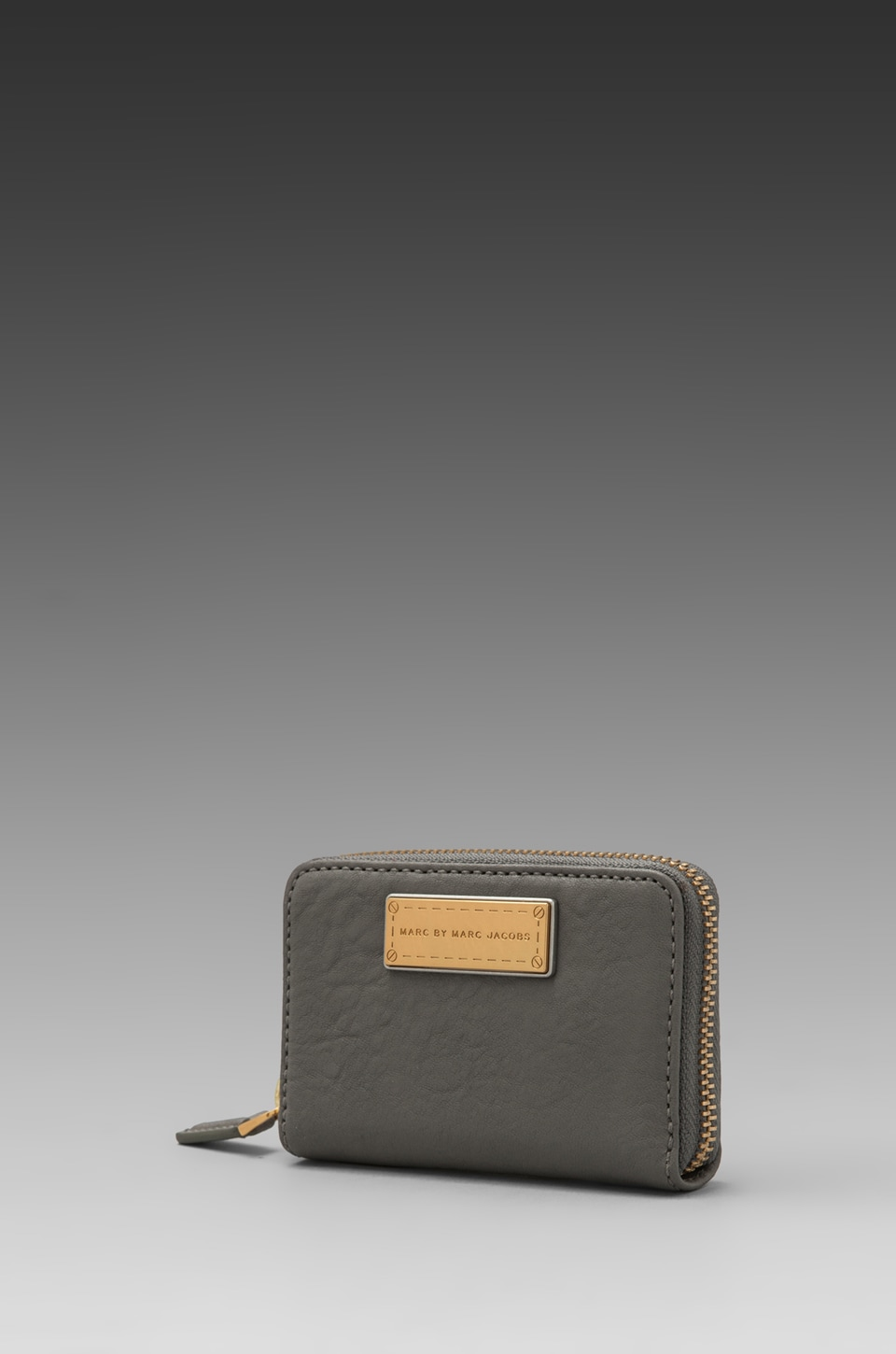 Marc by Marc Jacobs Washed Up Zip Card Case in Cylinder Grey