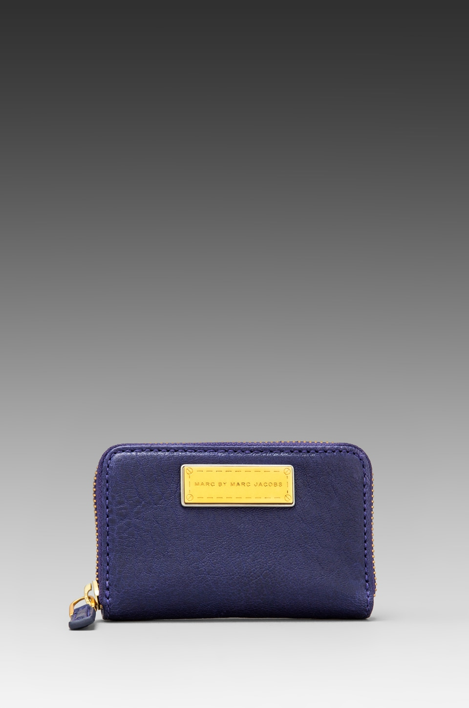 Marc by Marc Jacobs Washed Up Zip Card Case in Electric Stage Blue