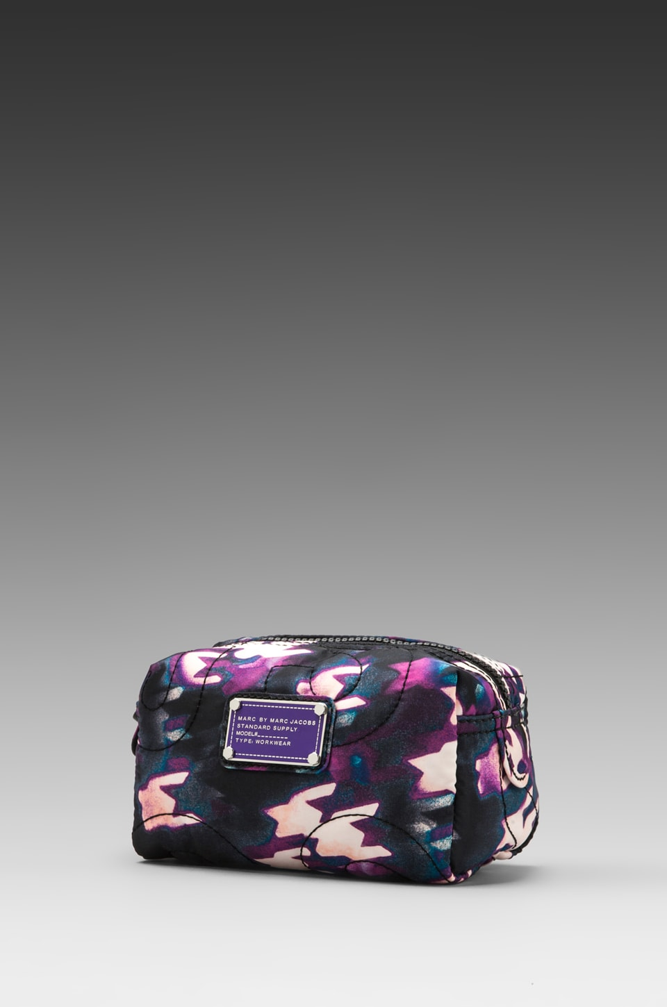 Marc by Marc Jacobs Pretty Nylon Printed Small Cosmetic Bag in Black Multi