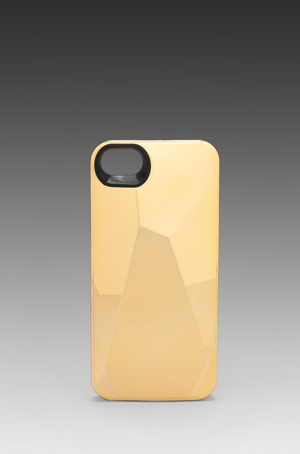 Marc by Marc Jacobs Metallic Faced Phone Case in Faceted Gold
