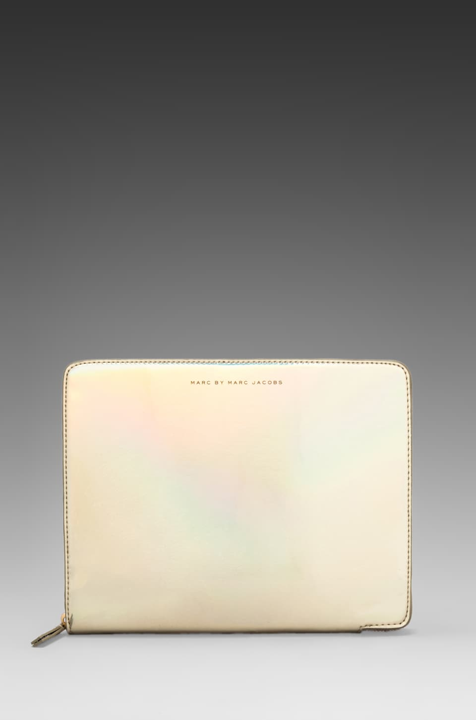 Marc by Marc Jacobs Techno Tablet Book in Pale Gold Holographic