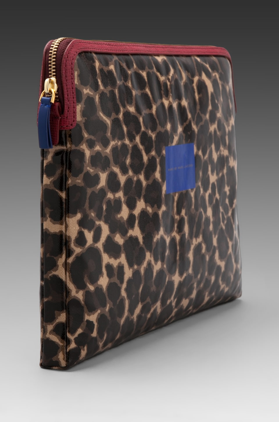"""Marc by Marc Jacobs Coated Canvas 13"""" Computer Case in Chickory Brown Multi"""