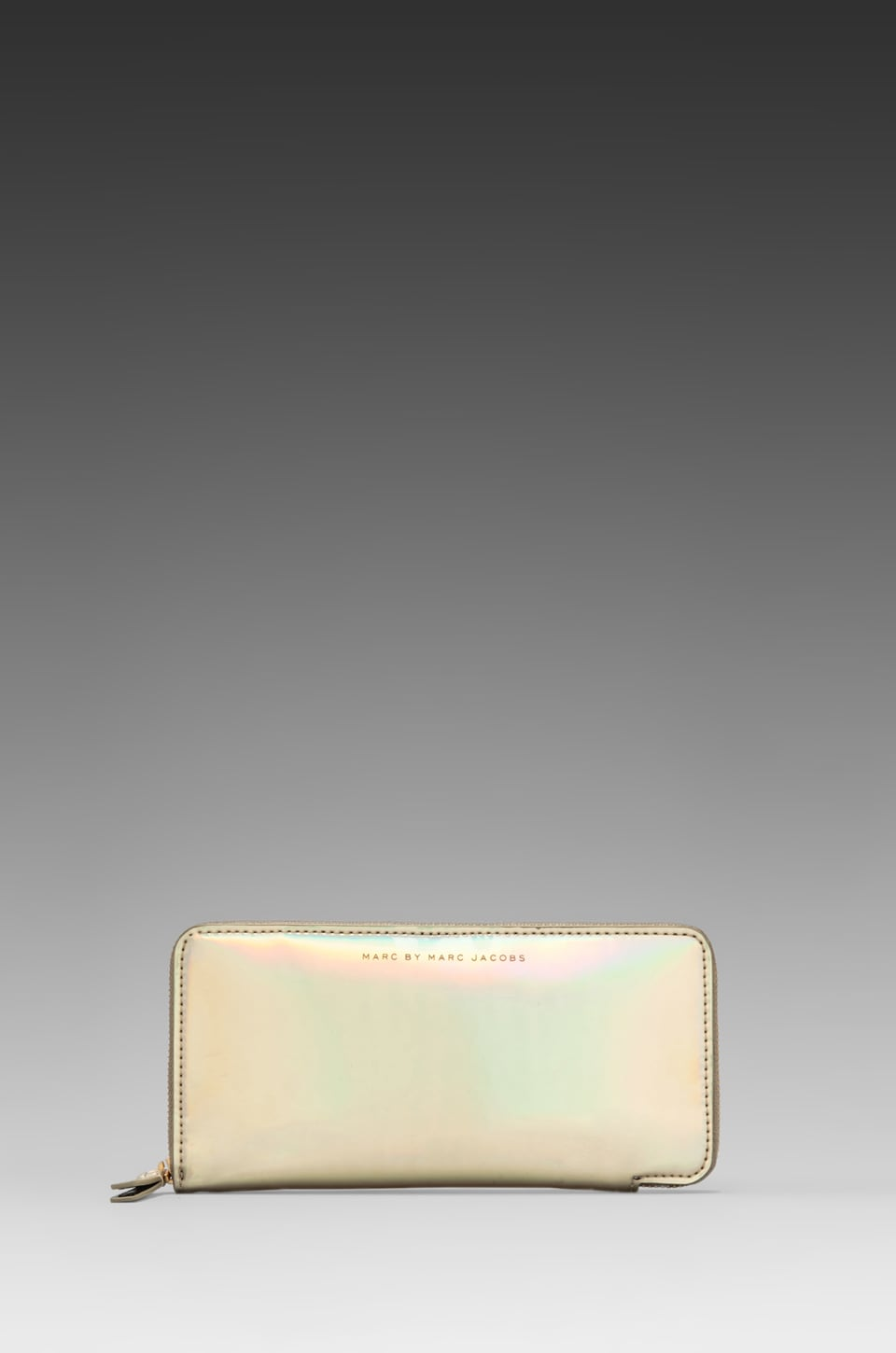 Marc by Marc Jacobs Techno Slim Zippy in Pale Gold Holographic