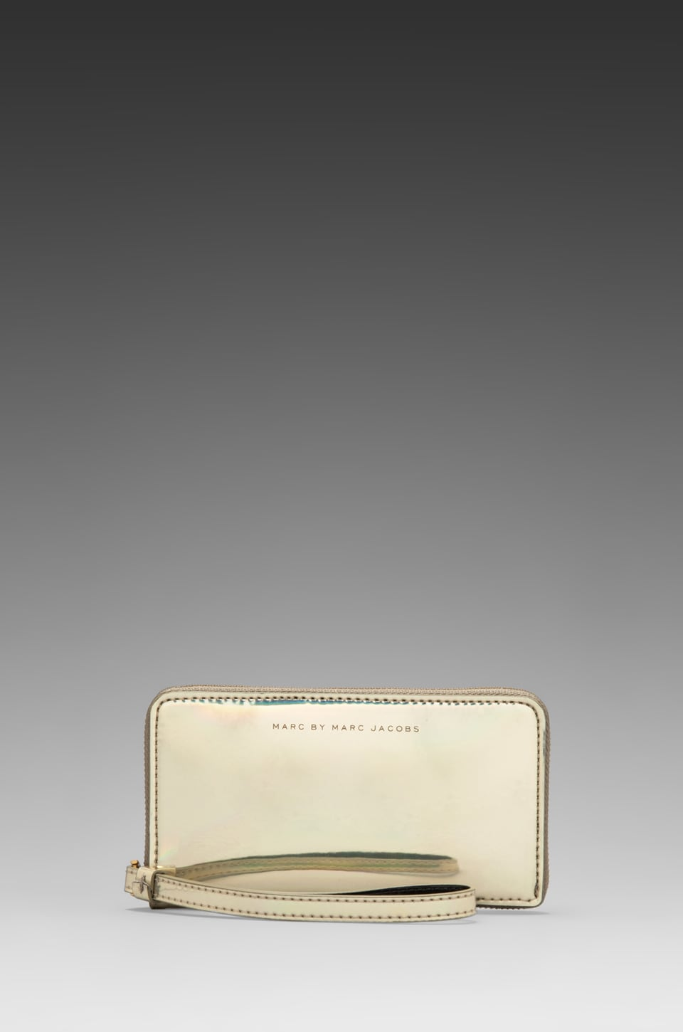 Marc by Marc Jacobs Techno Wingman Wallet in Pale Gold Holographic