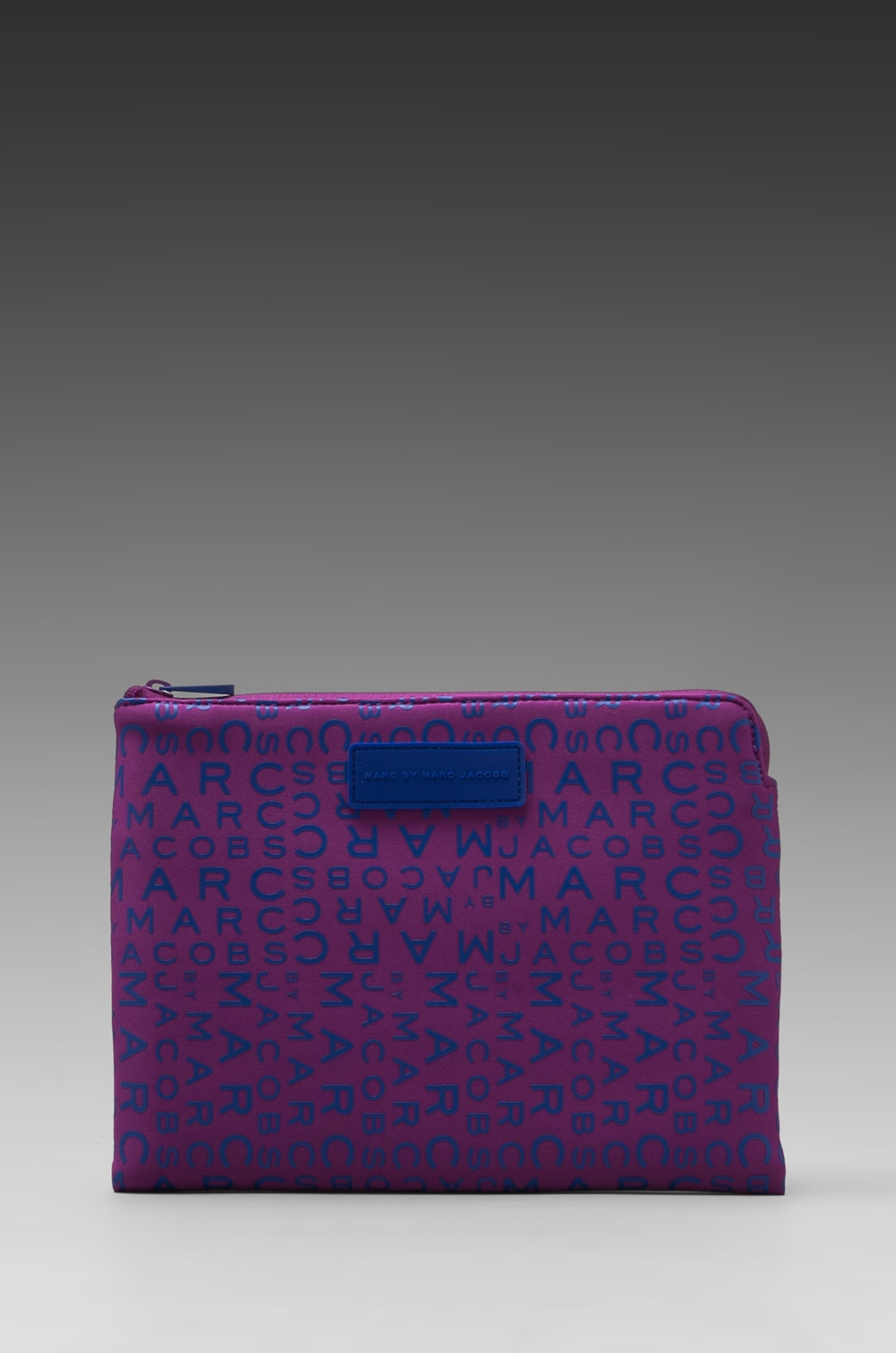 Marc by Marc Jacobs New Jumbled Logo Neoprene Tablet Zip Case in Amazon Purple Multi