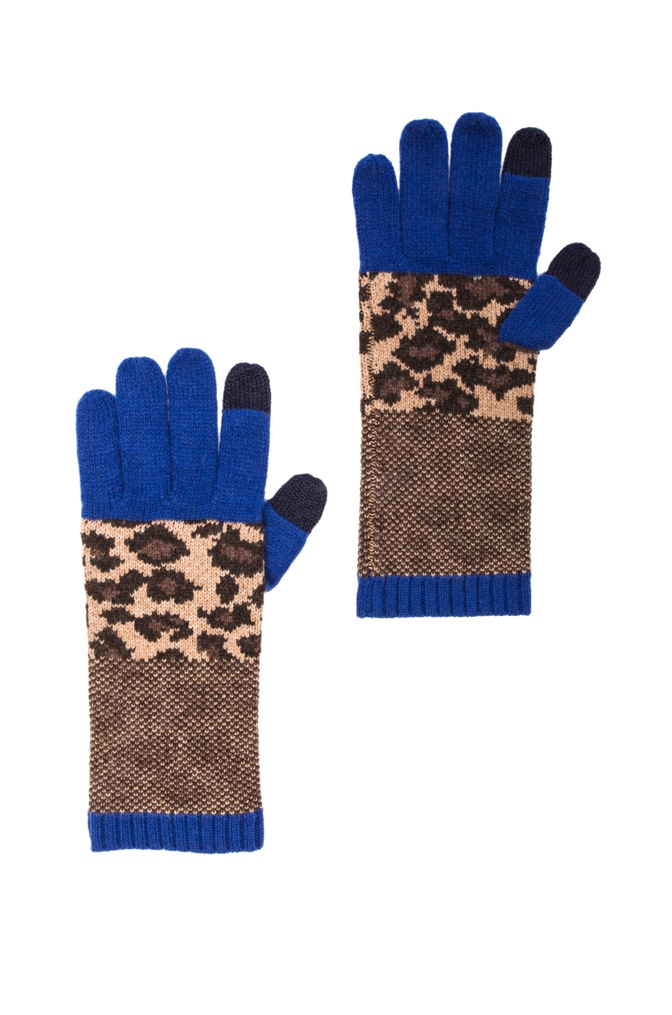 Marc by Marc Jacobs Lenora Leopard Glove in Chicory Brown Multi
