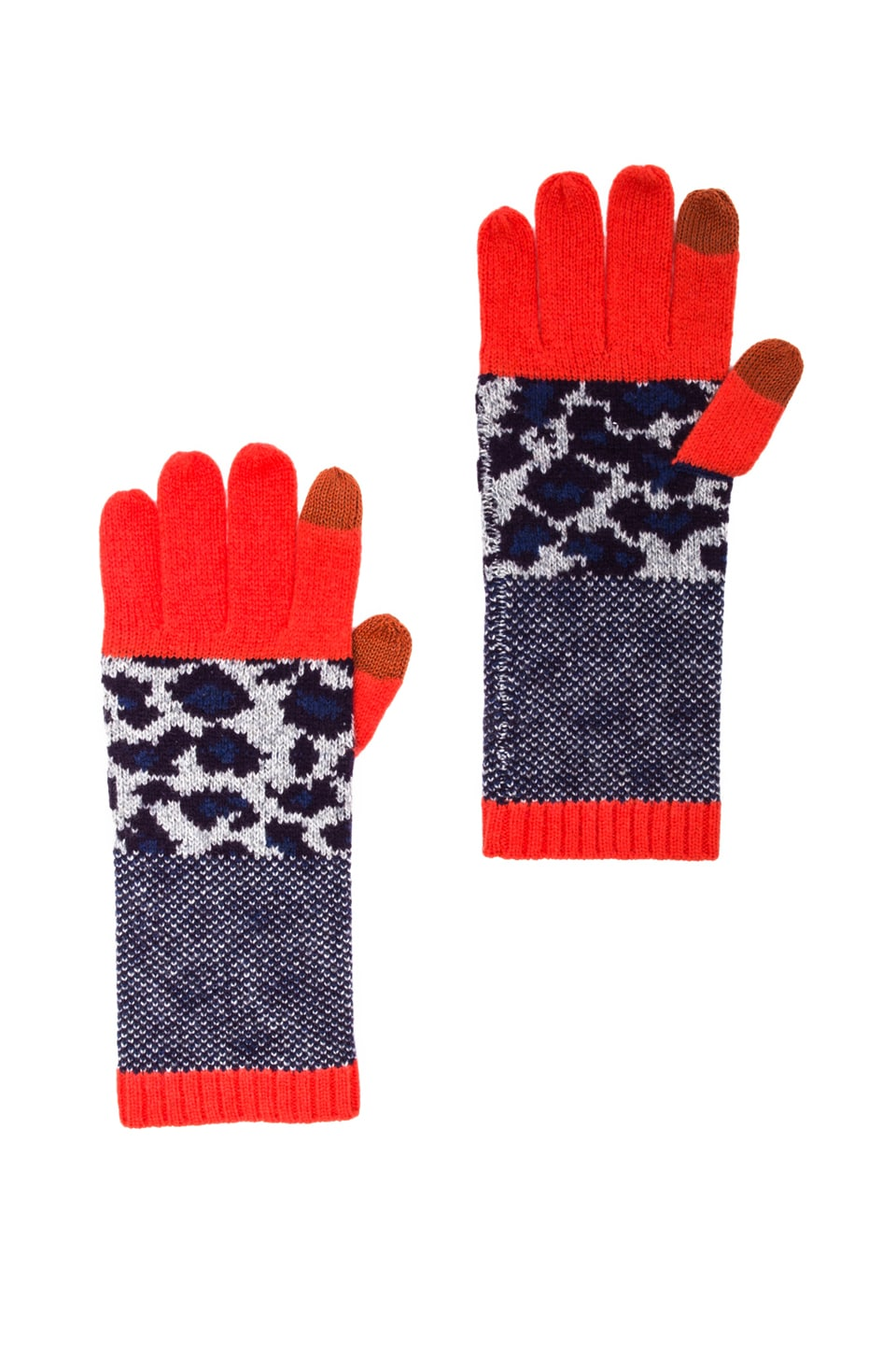 Marc by Marc Jacobs Lenora Leopard Glove in Royal Purple Multi
