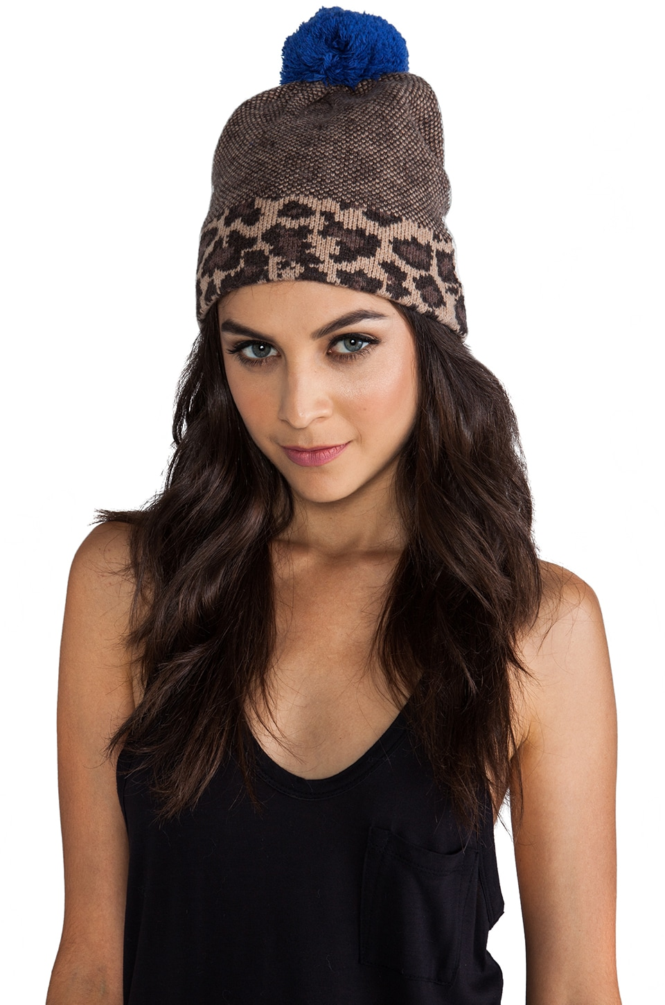 Marc by Marc Jacobs Lenora Leopard Hat in Chicory Brown Multi