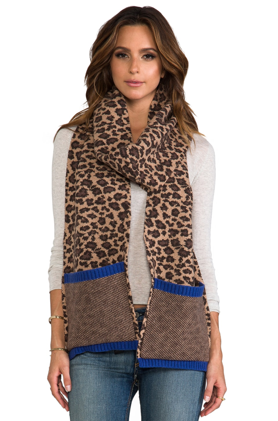 Marc by Marc Jacobs Lenora Leopard Scarf in Chicory Brown Multi