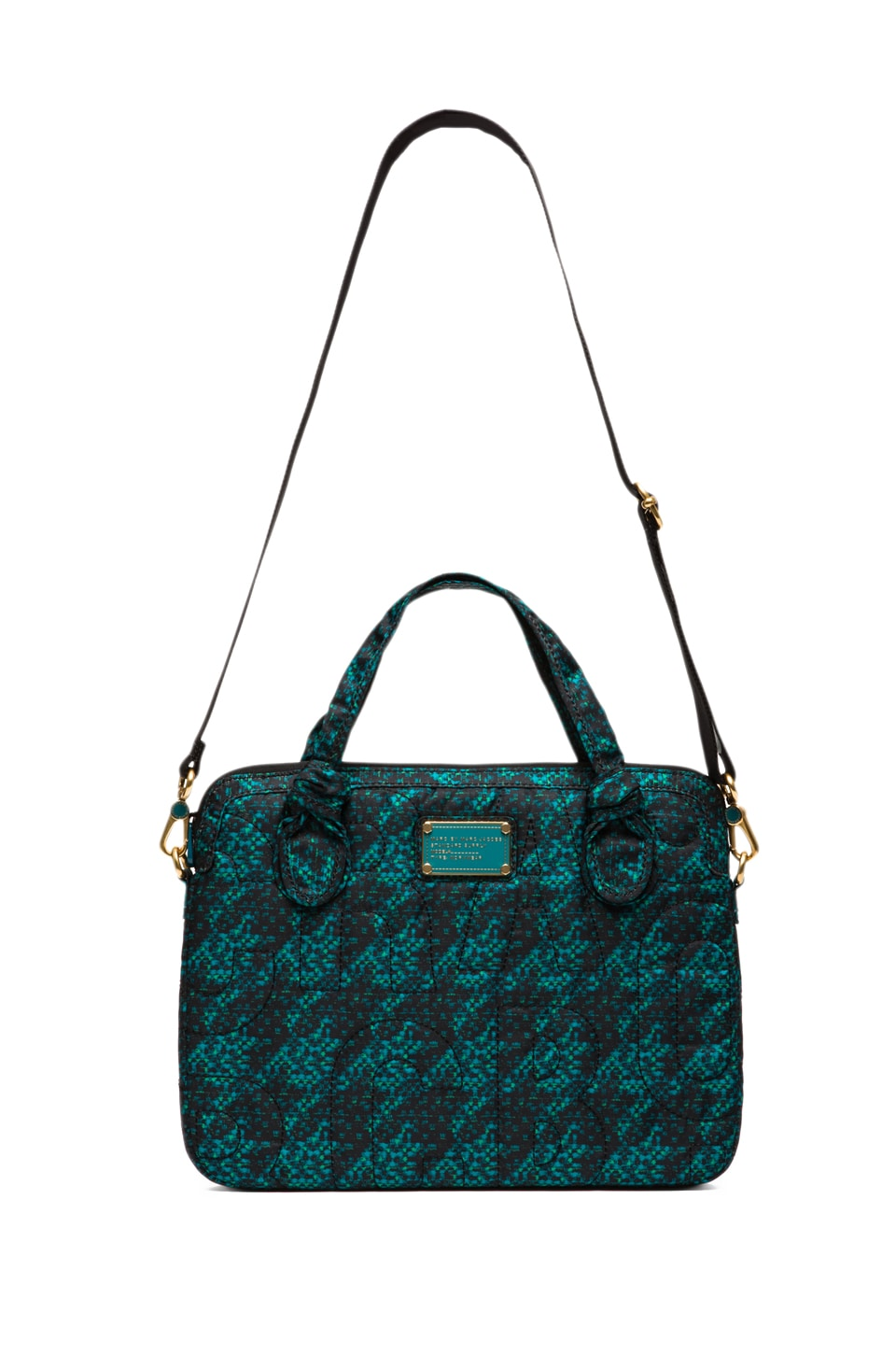 "Marc by Marc Jacobs Pretty Nylon Terrance Jacquard 13"" Computer Commuter in Parakeet Green Multi"