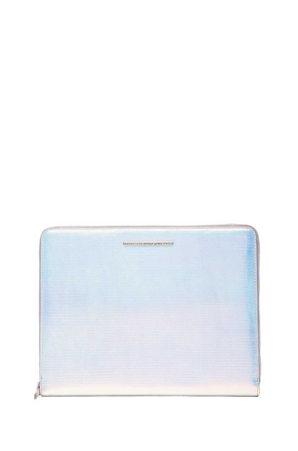 Marc by Marc Jacobs Karma Chameleon Tablet Book in Silver Holographic