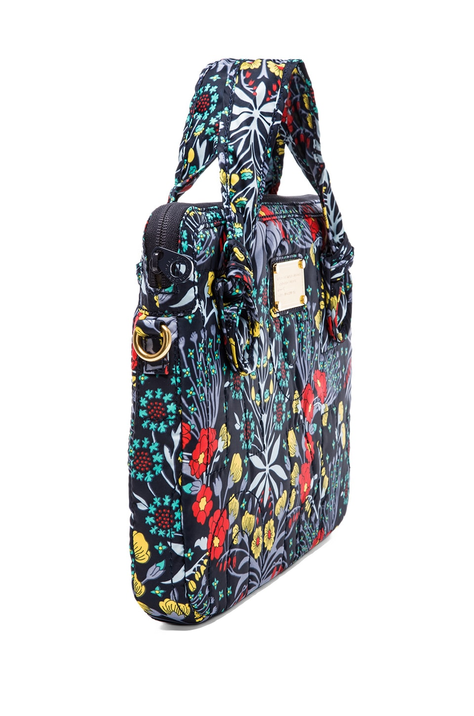 "Marc by Marc Jacobs Pretty Nylon Maddy Botanical 13"" Computer Commuter in Black Iris Multi"