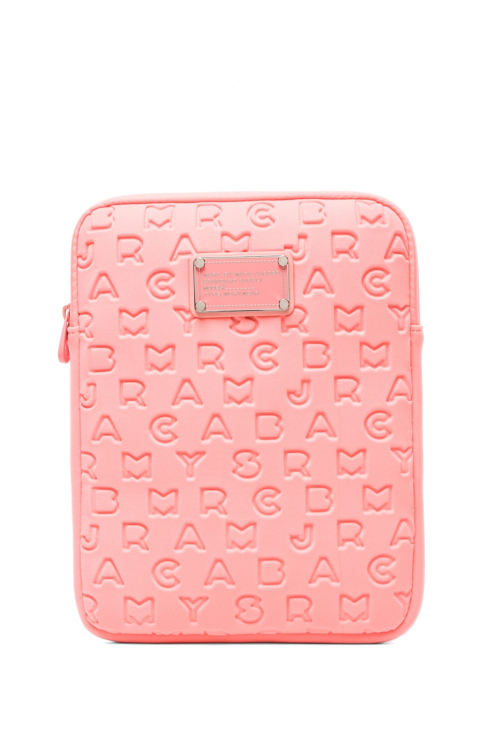 Marc by Marc Jacobs Dreamy Logo Neoprene Tablet Case in Fluoro Coral