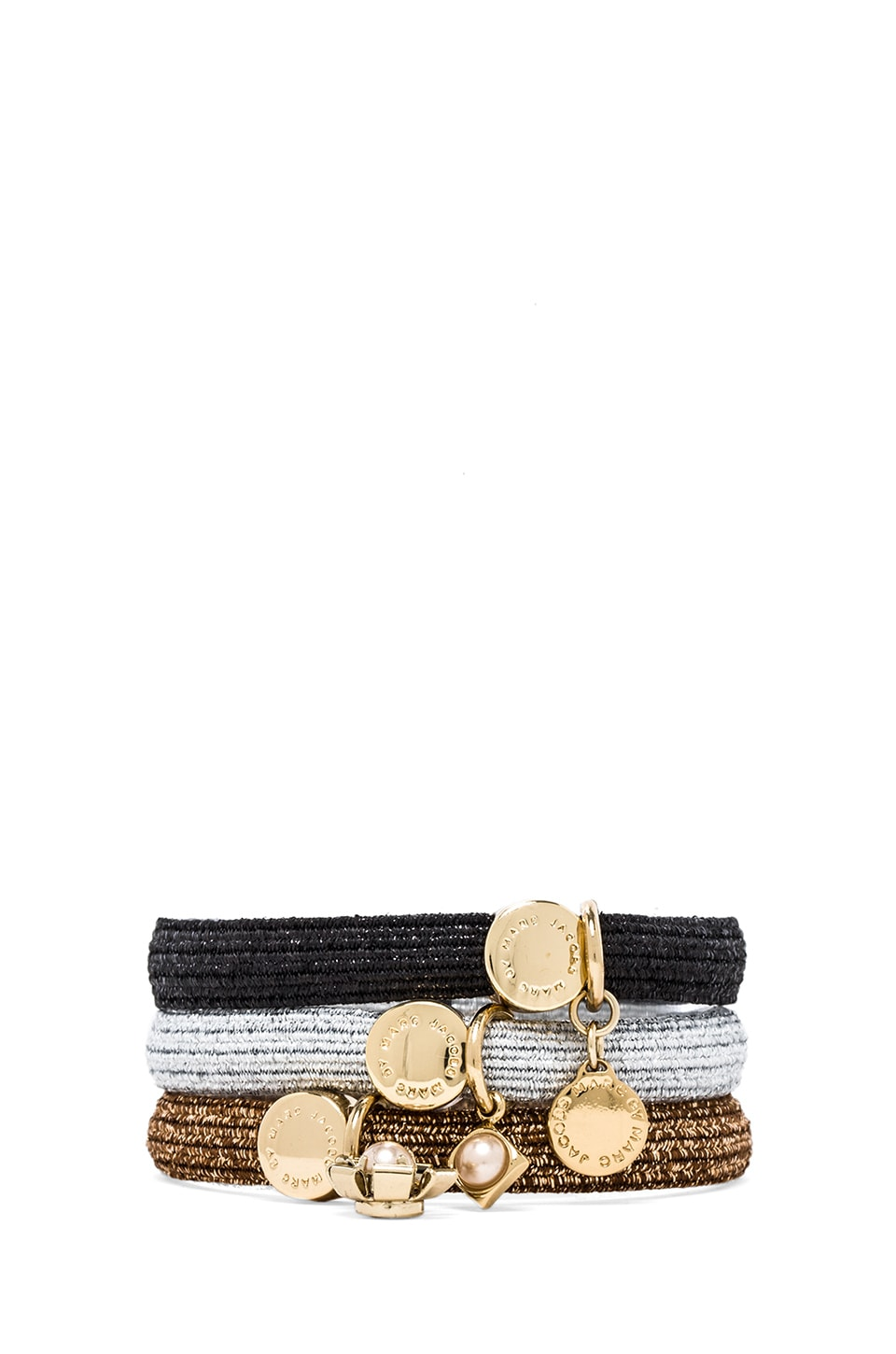 Marc by Marc Jacobs Flower Ponys in Black Multi & Oro