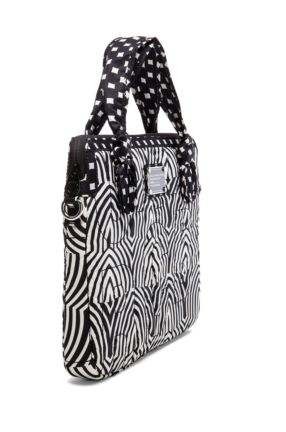 """Marc by Marc Jacobs 13"""" Gamma Ray Print Computer Commuter in Black Multi"""